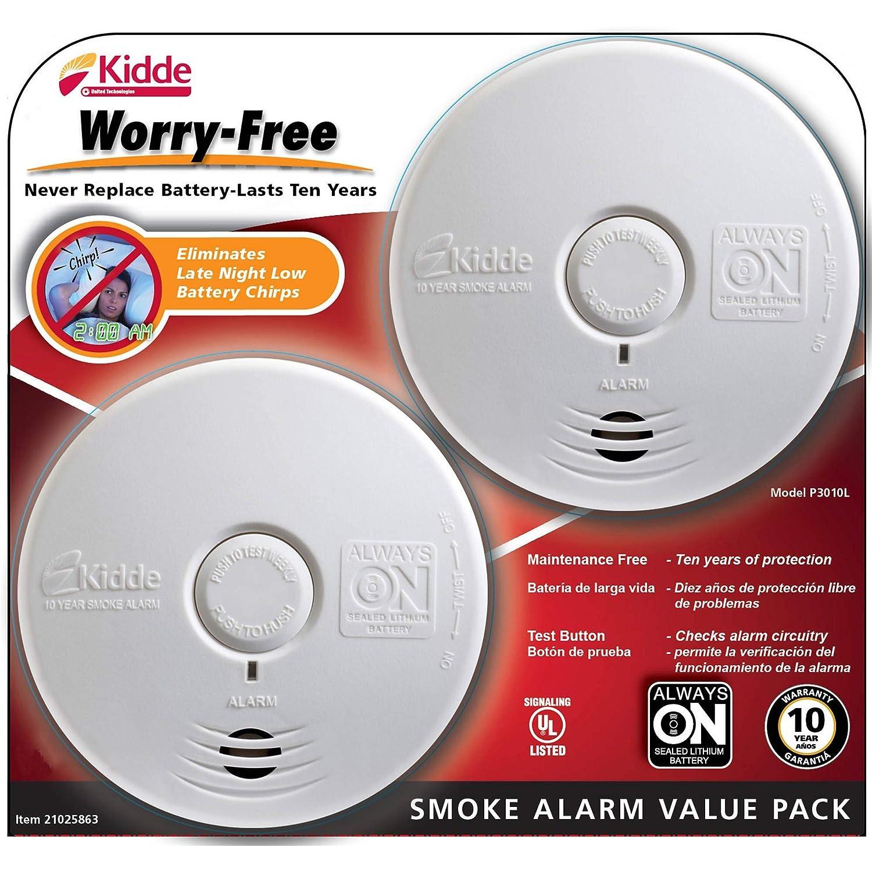 Kidde Worry Free Smoke Alarm 2 pk.