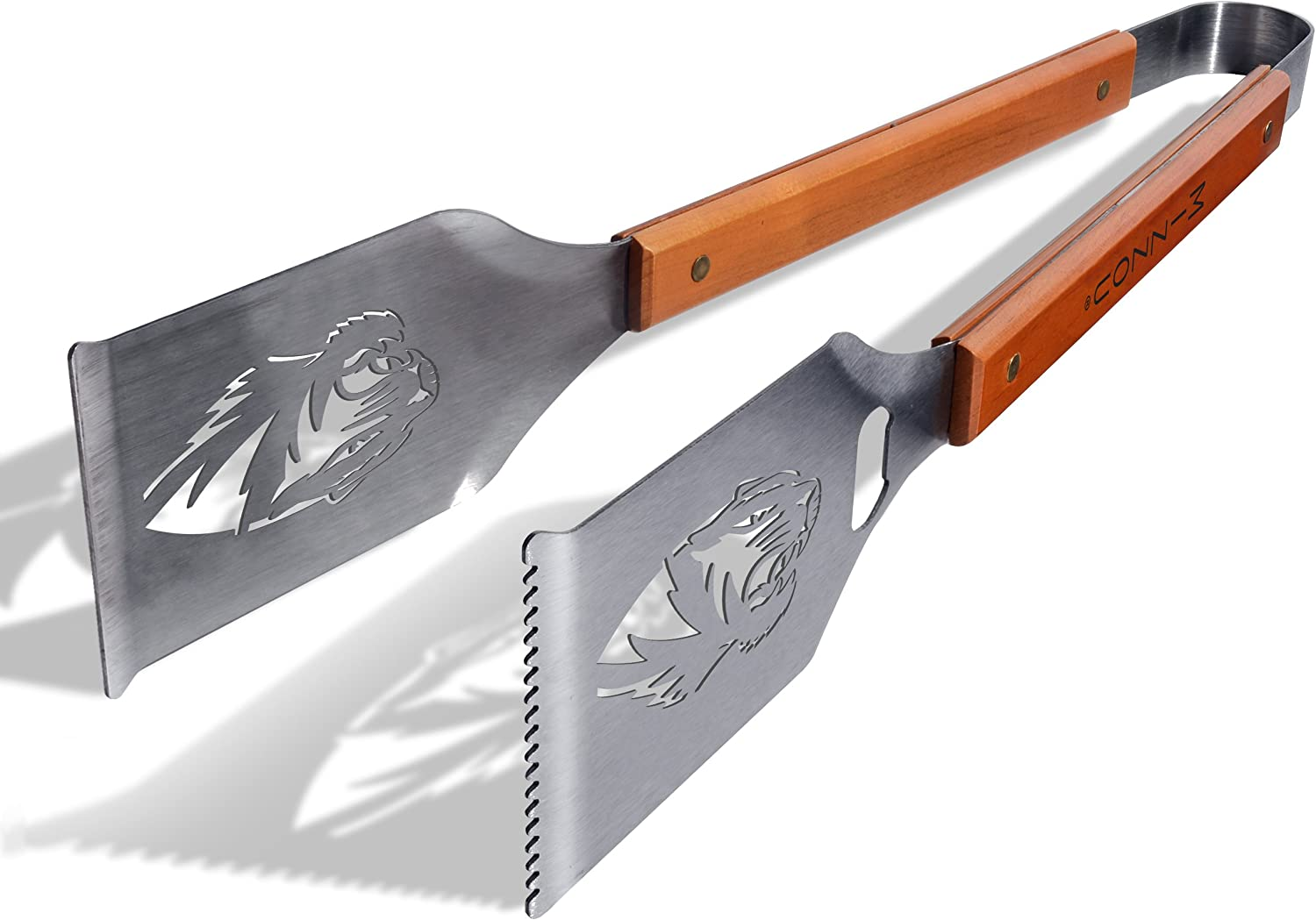 YouTheFan NCAA Grill-A-Tong Stainless Steel Laser-Cut Team BBQ Tongs