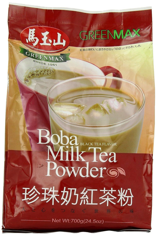 Greenmax Boba Milk Tea Powder, Black Tea, 24.5 Ounce