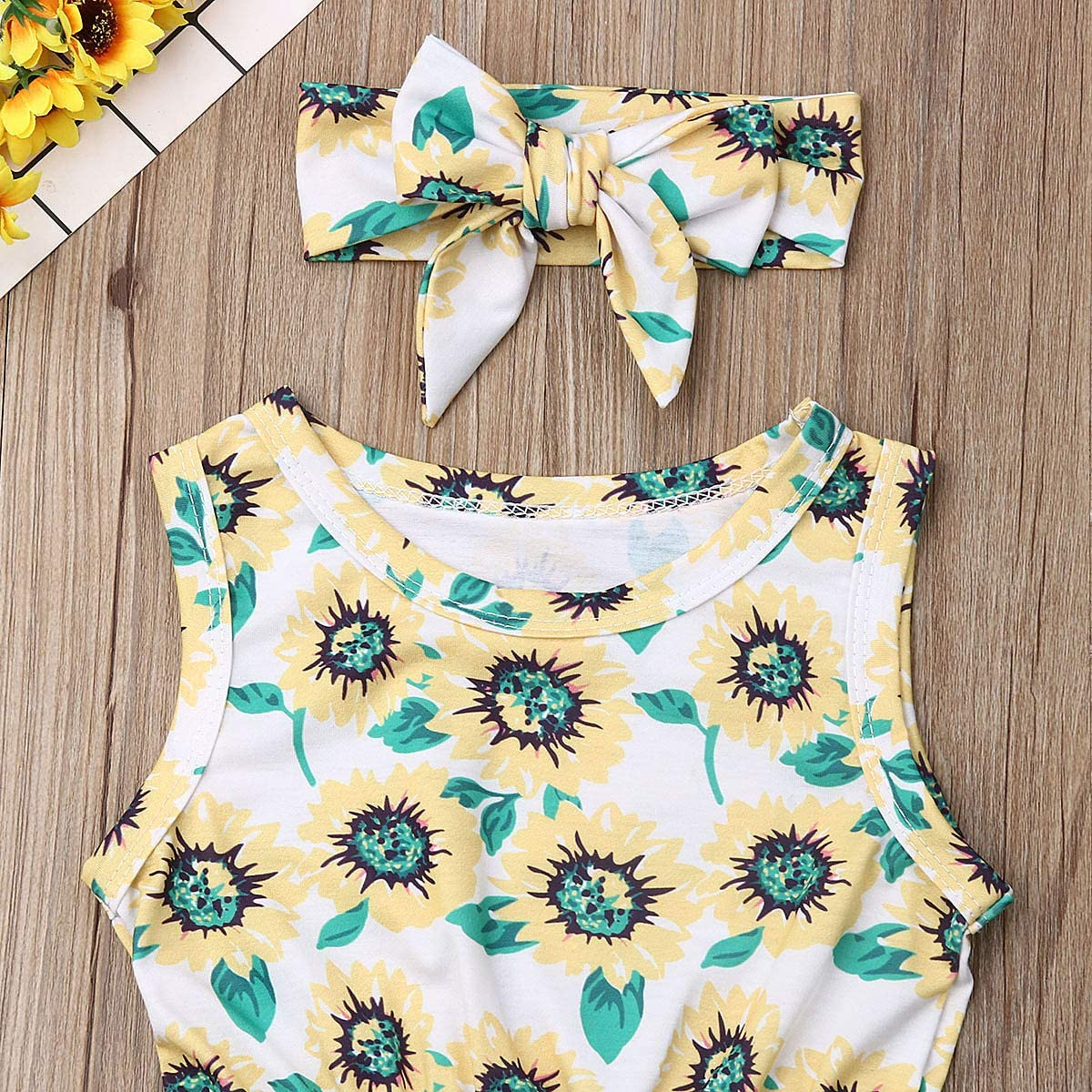 Headband Outfits Douhoow Newborn Kids Baby Girls Clothes Tassels Romper Jumpsuit Playsuit