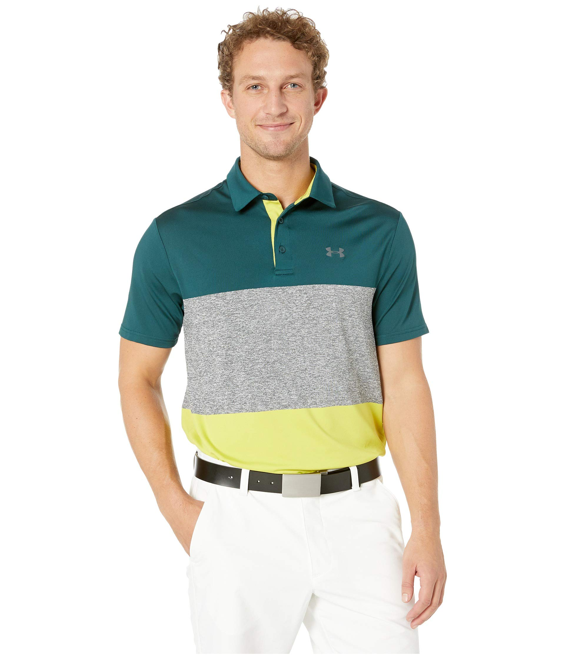 Under Armour Golf Men's Playoff Polo 2.0 Batik/Pitch Gray XXX-Large