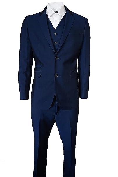 Para hombre Designer Cavani traje de para hombre azul 3 ...