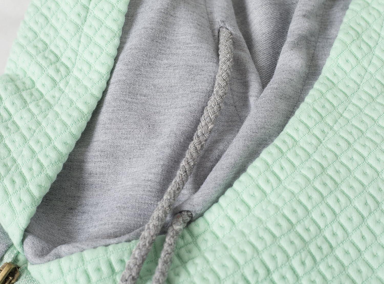 Aitos Sweats /à Capuche Femme Sweatshirt Hoodies avec Capuche Couleur Bloc Casual Sports /à Capuche Pullover Pull Manche Longue Sweater Tops Hauts