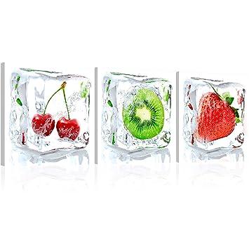 murando® neuheit ! glasbilder bild deko glass glasbild obst kÜche ... - Glasbilder Für Küche