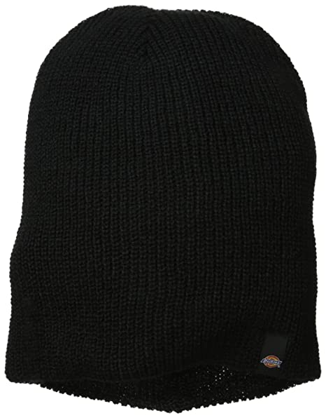Dickies Men s Reversible Stripe Black Grey Slouch Beanie 99f3ffa4e582