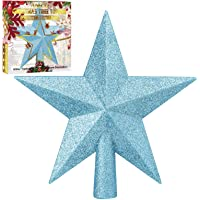 Amazon Price History for:Aneco Glitter Christmas Tree Topper Shatter-Proof Christmas Tree Decoration Treetop for Holiday Ornament or Home Decor…