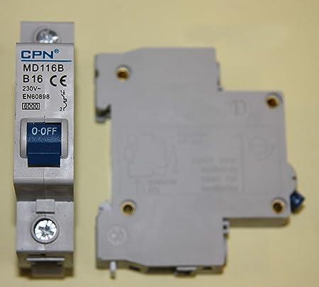 MH116B CPN CUDIS B16 MCB 16AMP TYPE B 10KA CIRCUIT BREAKER