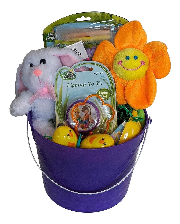 Cesta de Pascua rellena con campanilla y artículos de Pascua ...