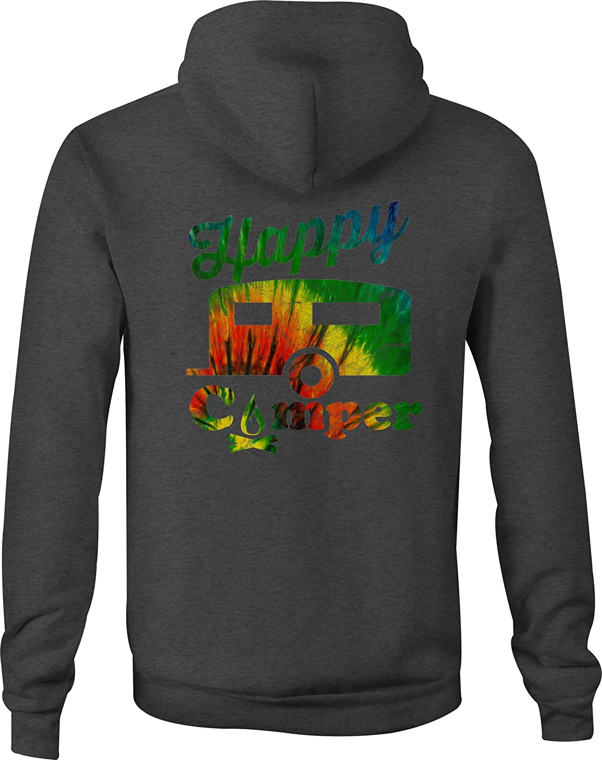 Zip Up Hoodie Campfire Tiedye Hooded Sweatshirt for Men