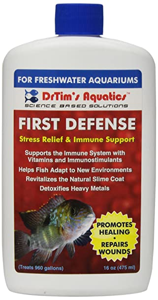 DrTims Aquatics First Defense Stress Relief & Immune Support Freshwater ...
