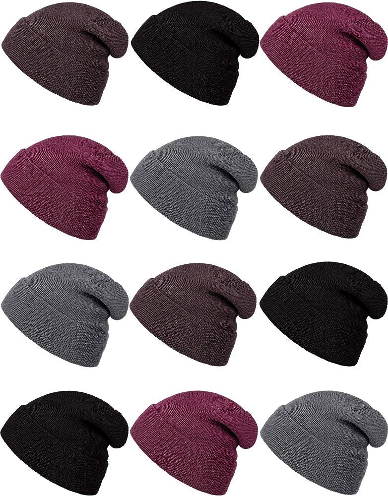 SATINIOR 6 St/ücke Eltern Kind Winter Warme Set Beanie M/ütze Strickschal Touchscreen Handschuhe f/ür Frauen Kinder