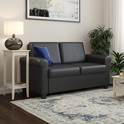 Amazon.com: DHP Logan Twin Sleeper Sofa Couch Pull Out Bed ...