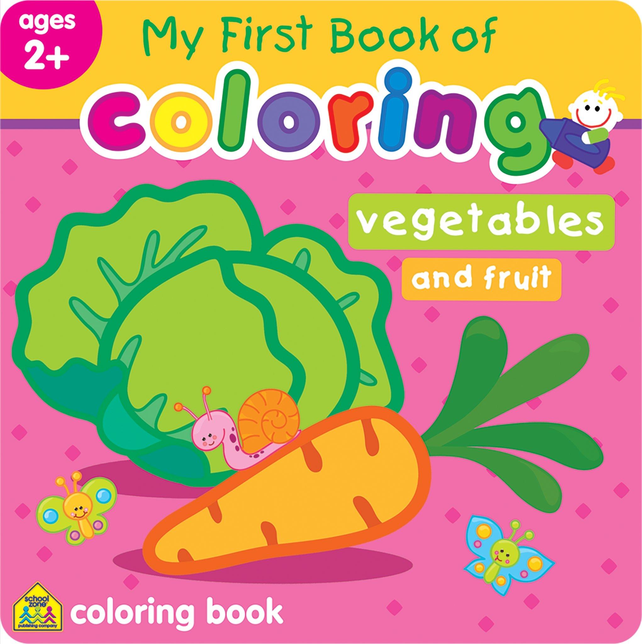 My First Book of Coloring Vegetables & Fruits: Jusu Flintas Ltd ...