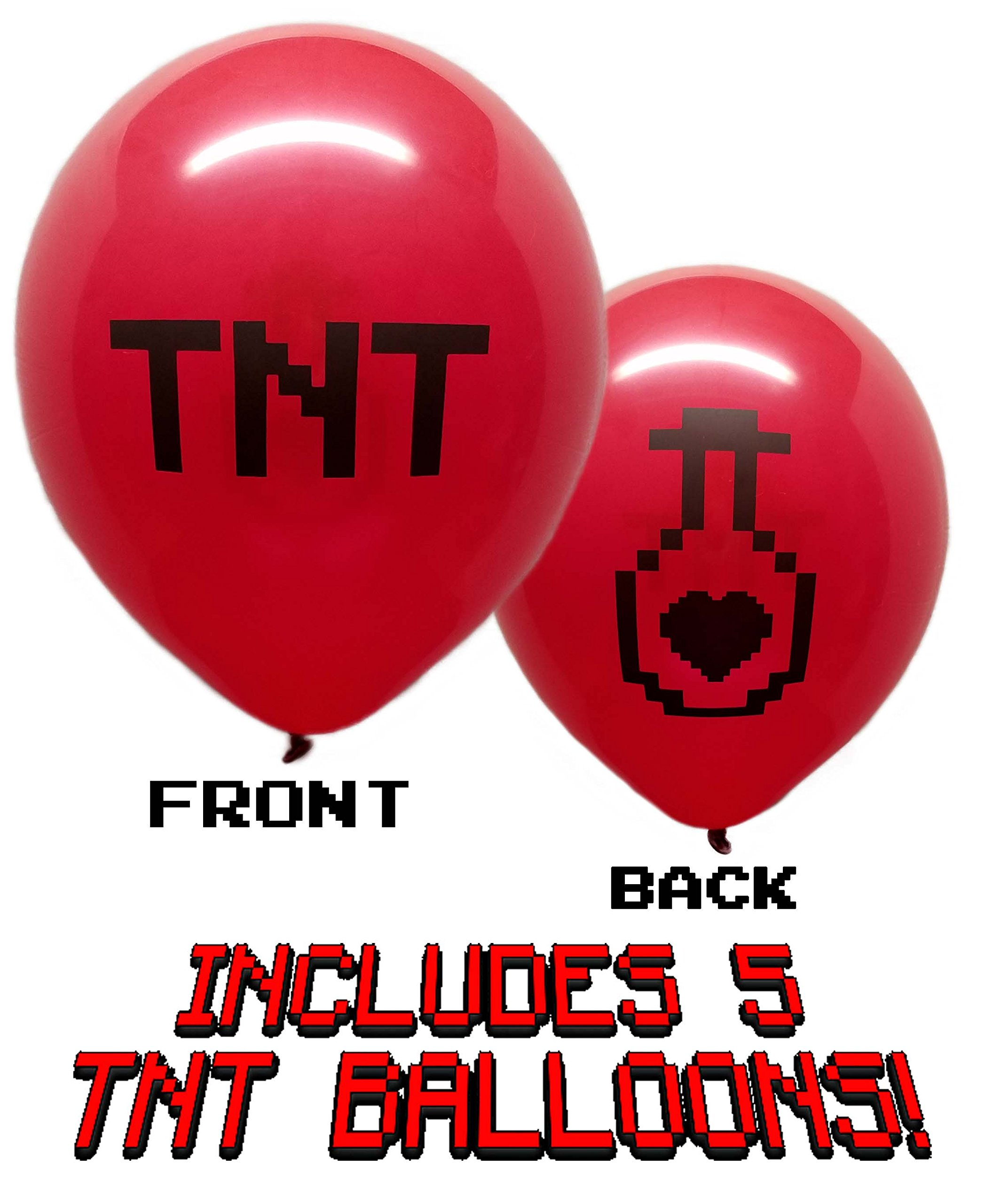25 Pixel Style Miner Party Balloon Pack - Large 12'' Latex Balloons by Jade's Party Packs (Image #5)