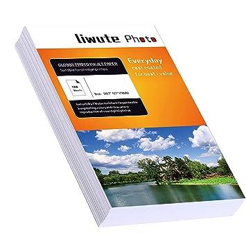Liwut - Papel fotográfico brillante e impermeable para ...