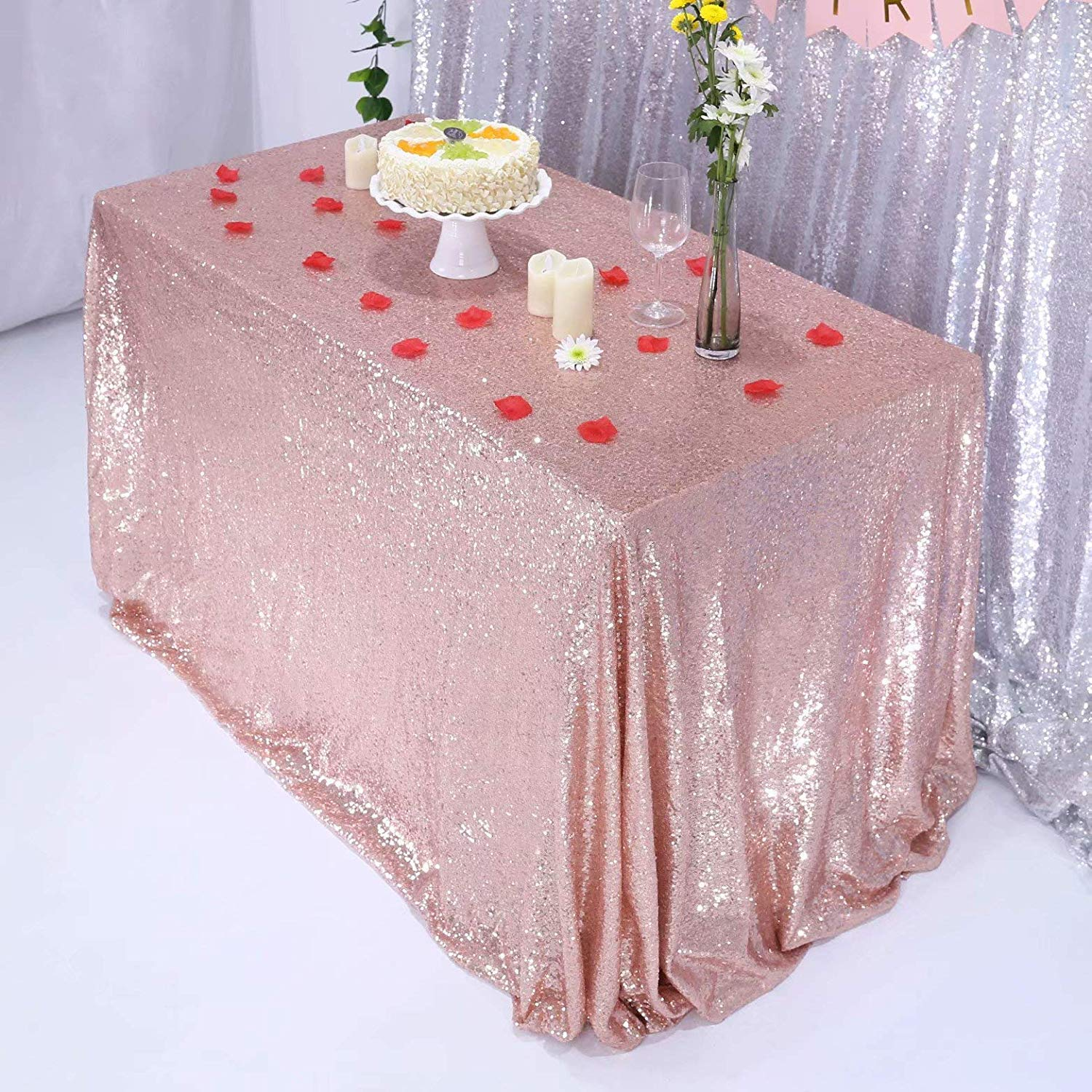 Remarkable Ulmisfee Sequin Tablecloth Table Cloths For Party Wedding Birthday Funny Birthday Cards Online Inifofree Goldxyz