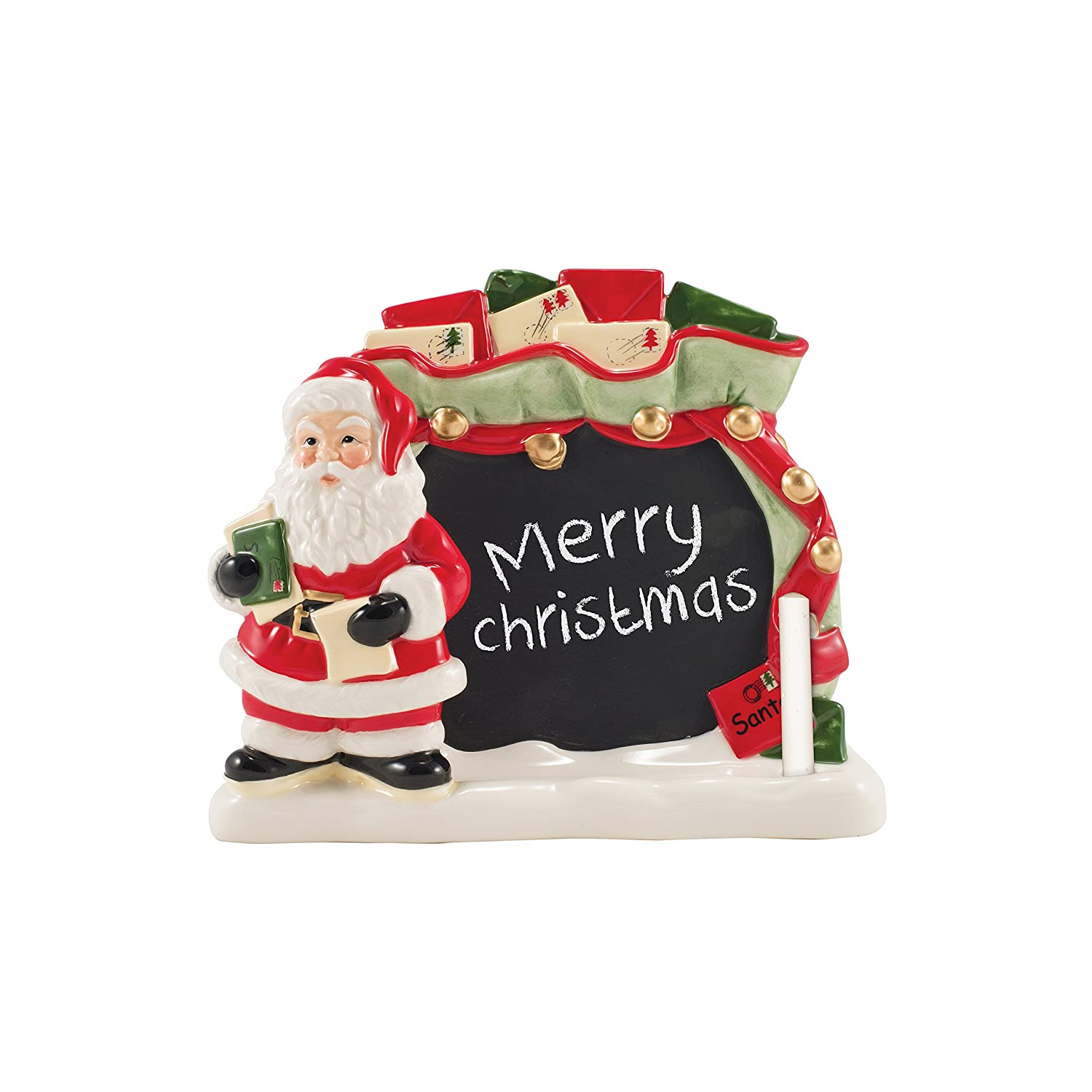 Fitz & Floyd Letters to Santa Collection Cookie Jar with Dry Erase, Red/White 49-400