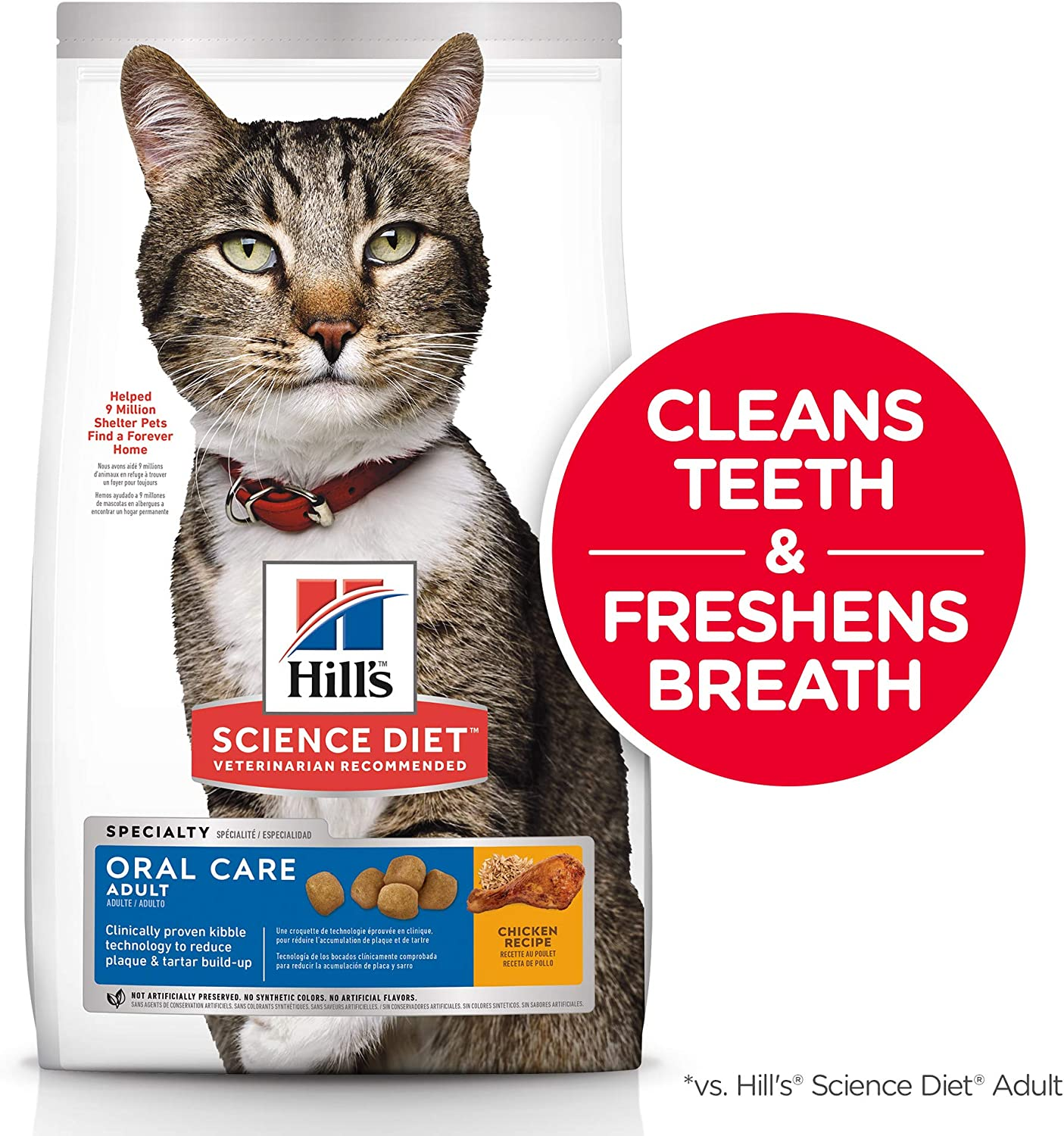 6. Hill's Science Diet Adult Oral Care Dry Cat Food