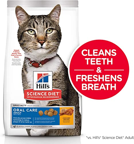 Hill s Science Diet Dry Cat Food, Adult, Oral Care, Chicken Recipe