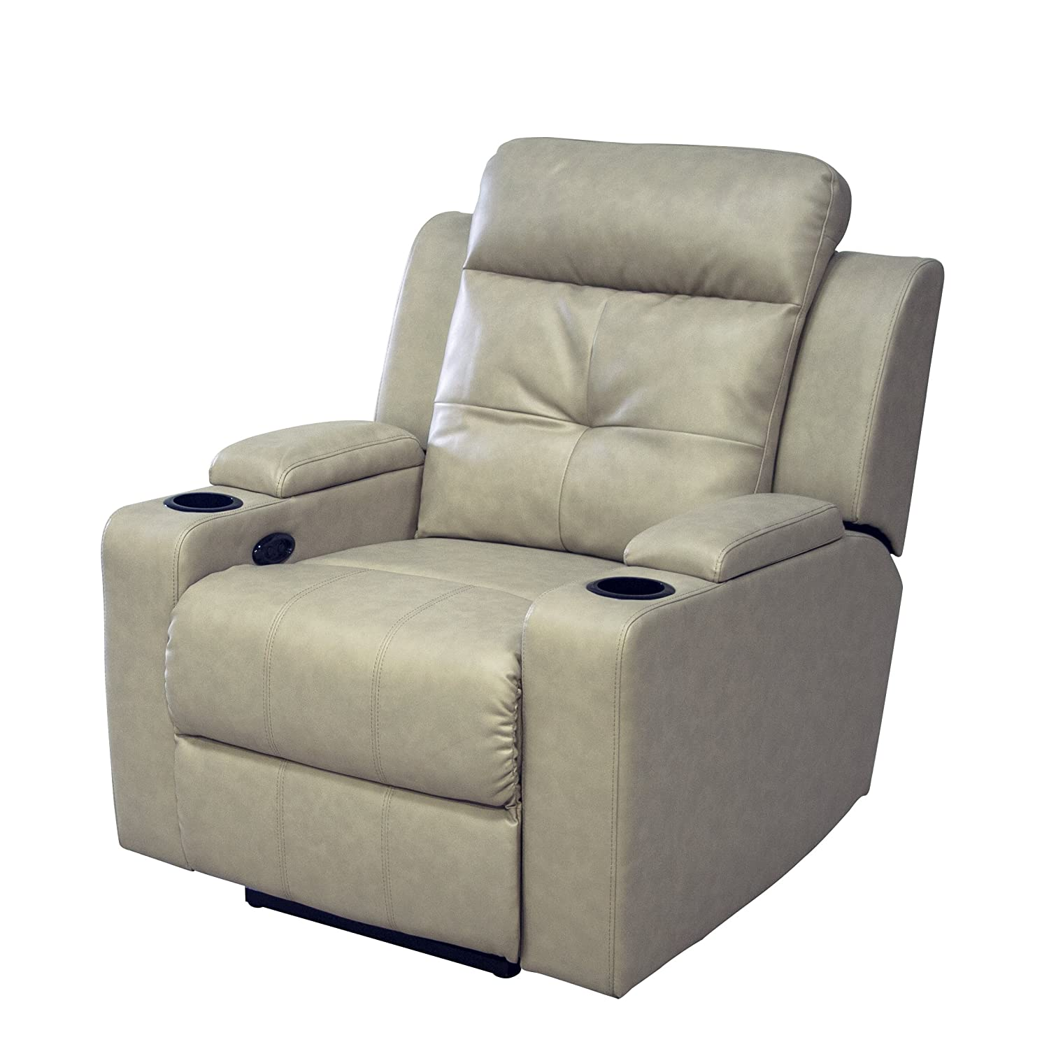 Fine Amazon Com Ac Pacific Aviator Power Reclining Chair Caraccident5 Cool Chair Designs And Ideas Caraccident5Info