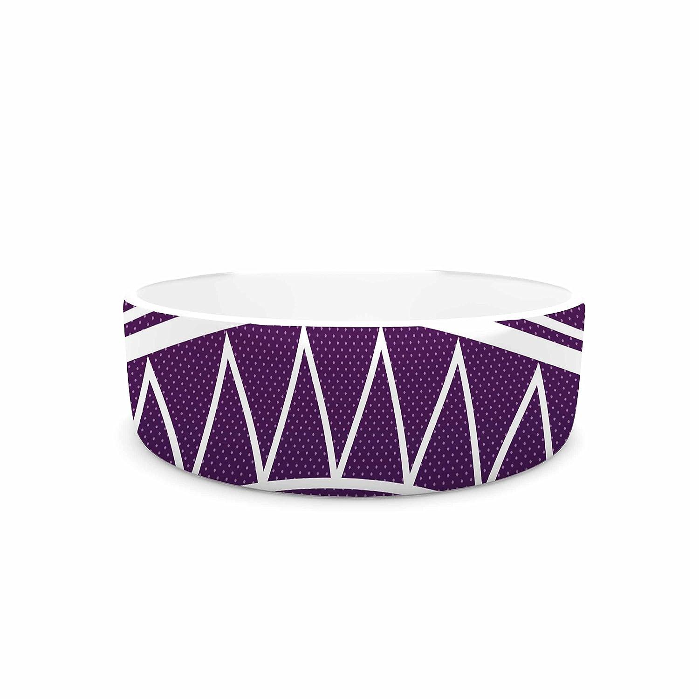 KESS InHouse Matt Eklund Amethyst Portal  Purple White Pet Bowl, 7