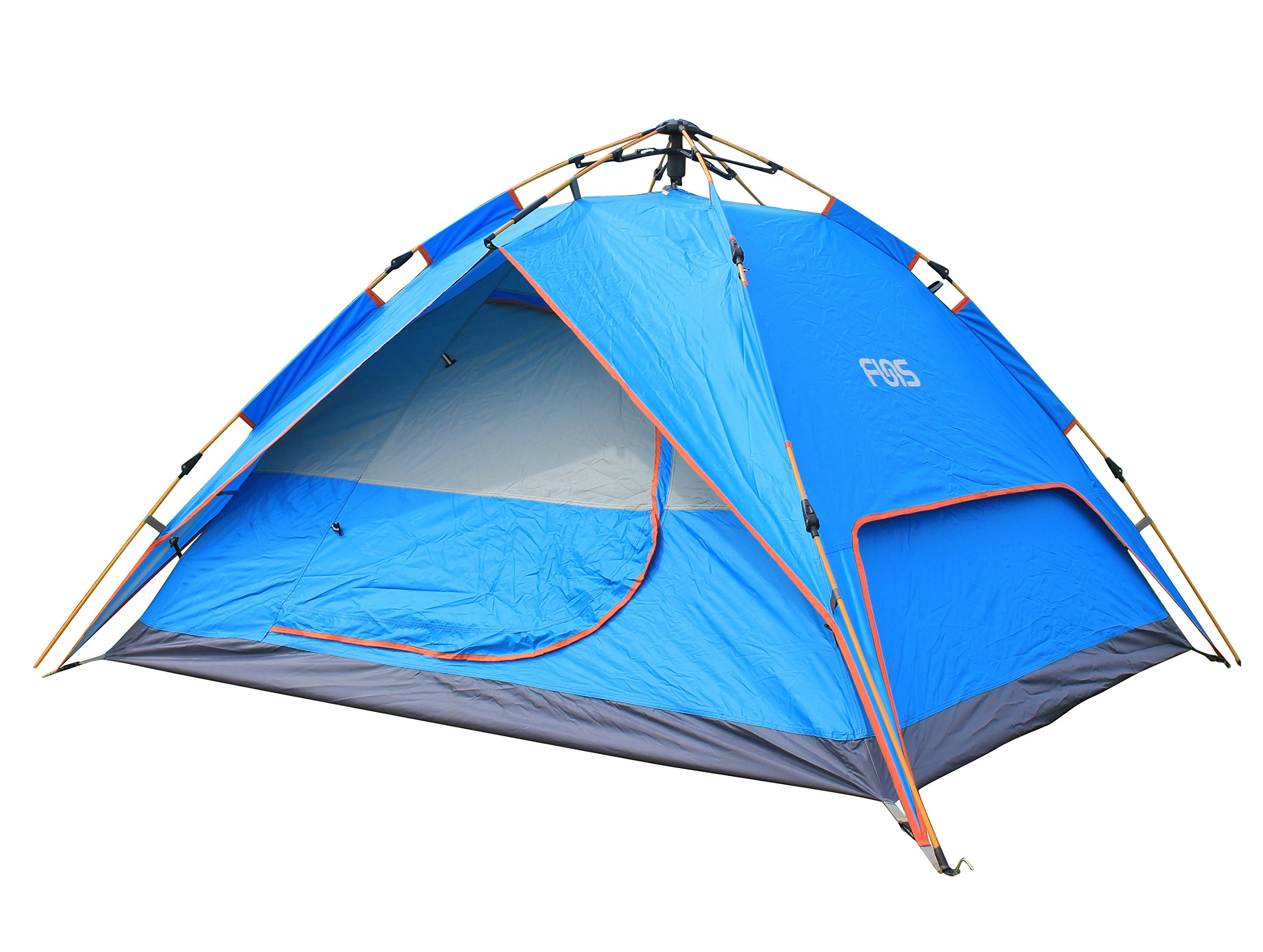 FUNS Instant 2 Person Easy Push Up Family Dome Tent for Camping, Hiking, Lightweight Backpacking, Beach, Shade Canopy, Kids Play, Boys & Girls