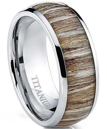 Ultimate Metals Co Herren Titan Ehering Verlobungsring Mit