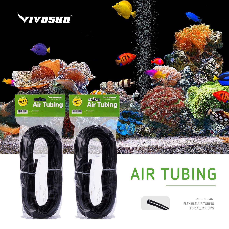 and Hydroponics Terrariums VIVOSUN 25ft Clear Flexible Air Tubing for Aquariums
