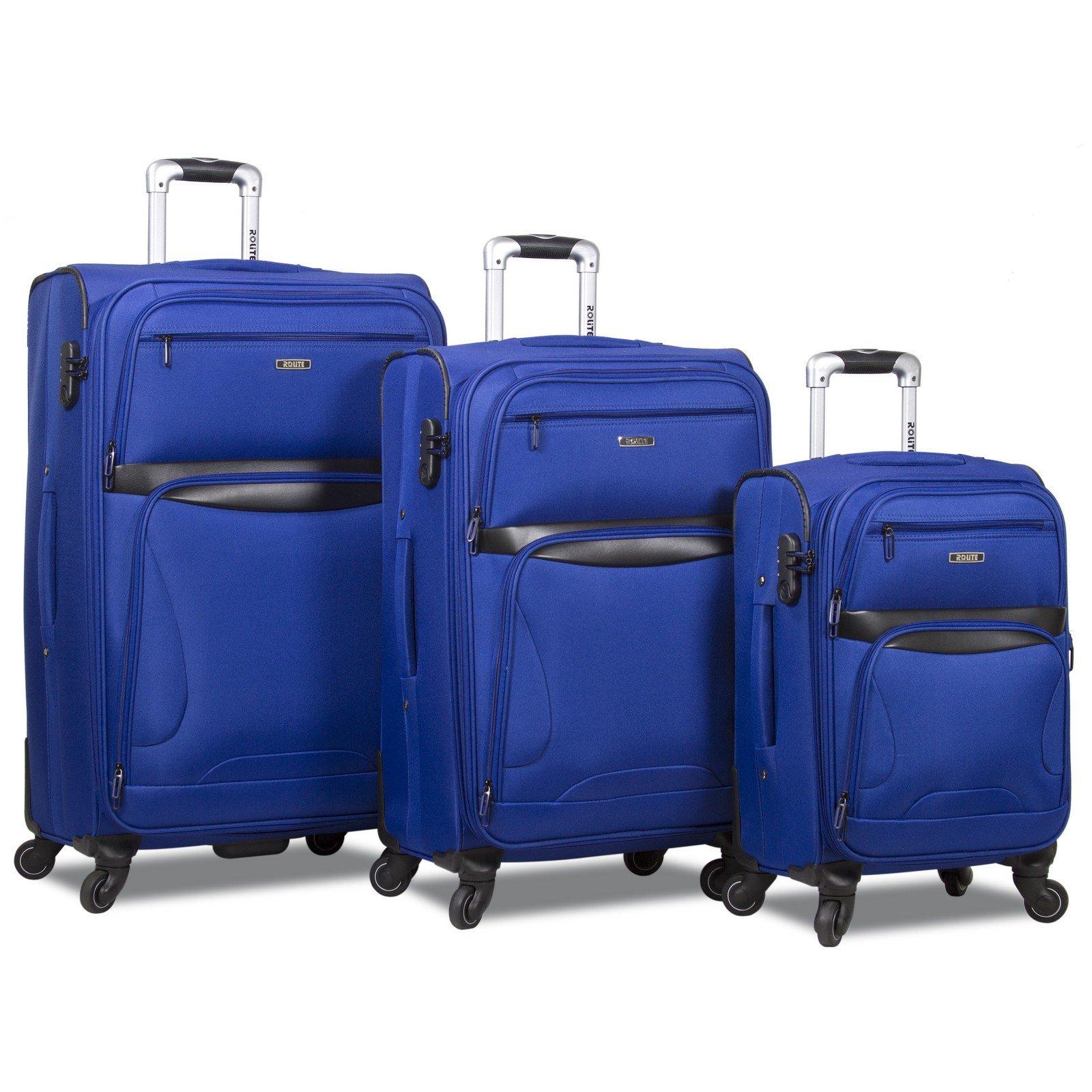 Rolite Explorer 3-Piece Expandable Spinner Luggage Set, Navy