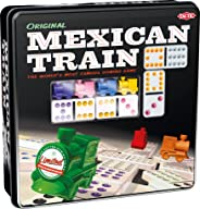 Mexican Train – Game Forup to 8 Players Dominoes - Double-Twelve Domino Set - Colour-Dot Dominoes for Easy Play. World'S Mos