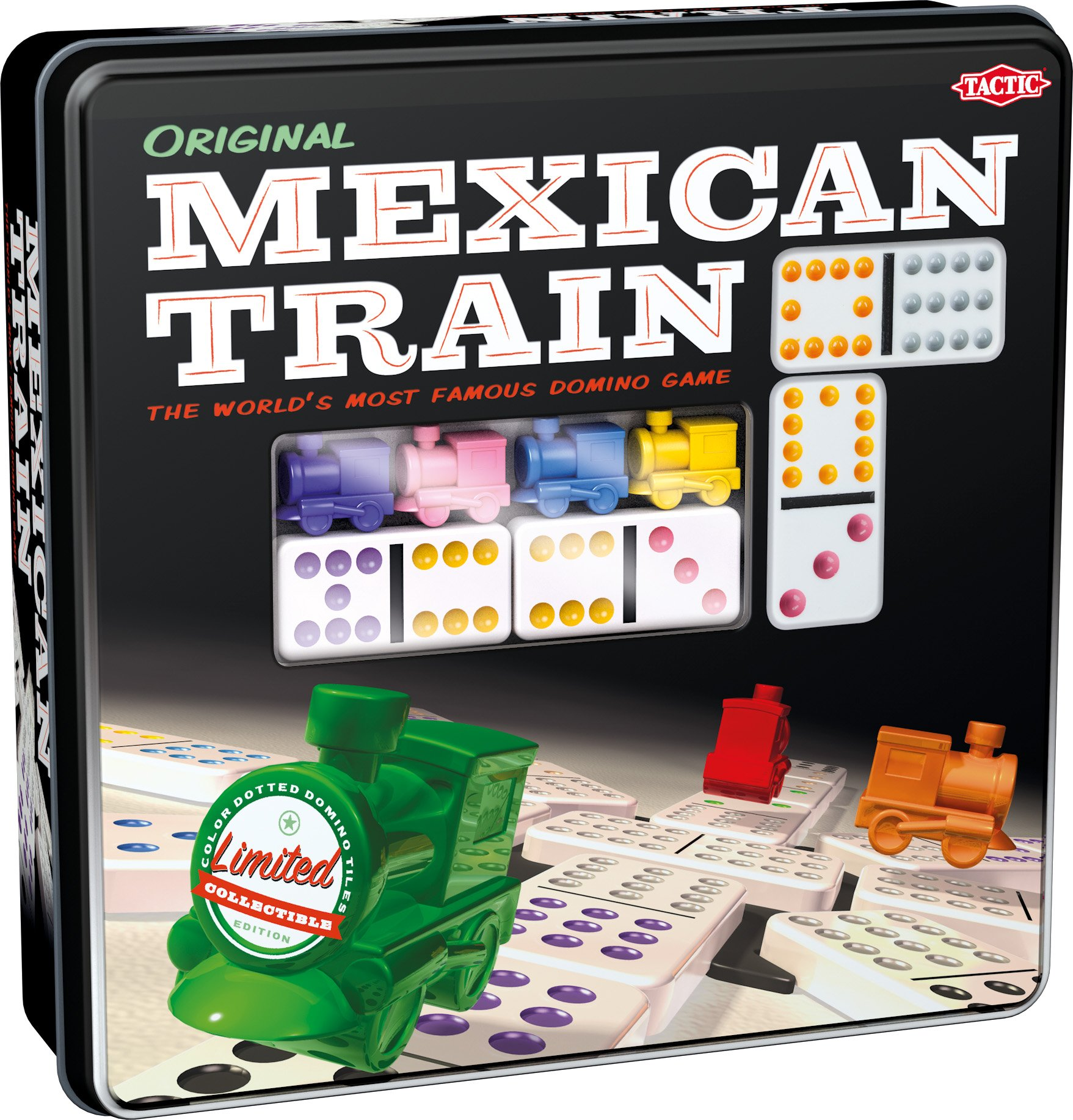 Mexican Train - Game Forup to 8 Players Dominoes - Double-Twelve Domino Set - Colour-Dot Dominoes for Easy Play. World'S Most Popular Domino Game, from Tactic by Tactic Games US