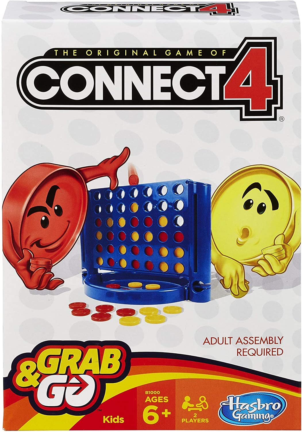 Hasbro Connect 4 Grab and Go Game Travel Size
