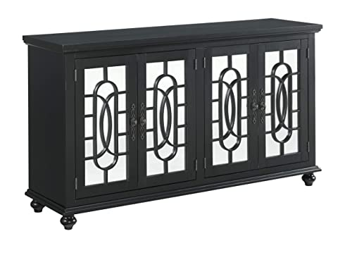 Martin Svensson Home Orleans TV Stand, 4 Door, Antique Black