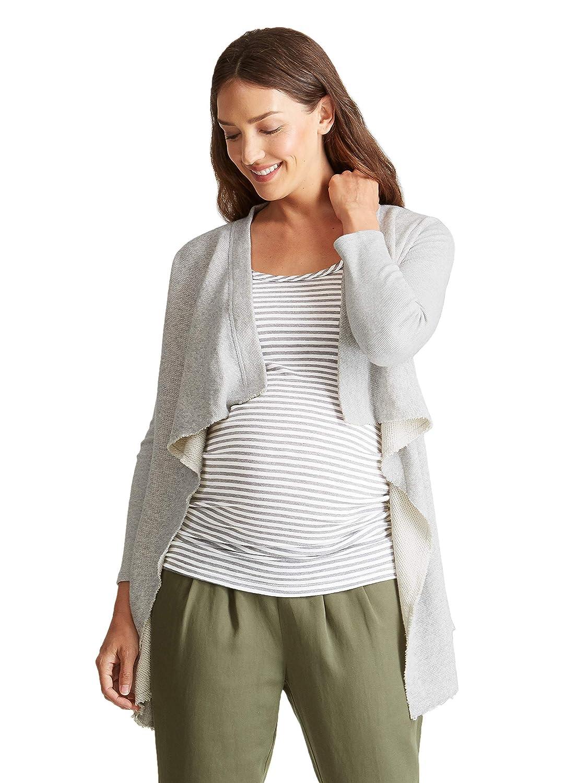 Ingrid & Isabel Women's Maternity Drape Front Cardigan 1310