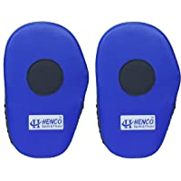 Henco Focus Boxing and Karate Punching Pads/Coach Pads, 30 cm x 7 cm (Blue, 1 Pair)