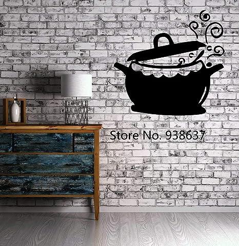 Cocina, restaurante, decoración, ollas y sartenes, cocina, caldera ...