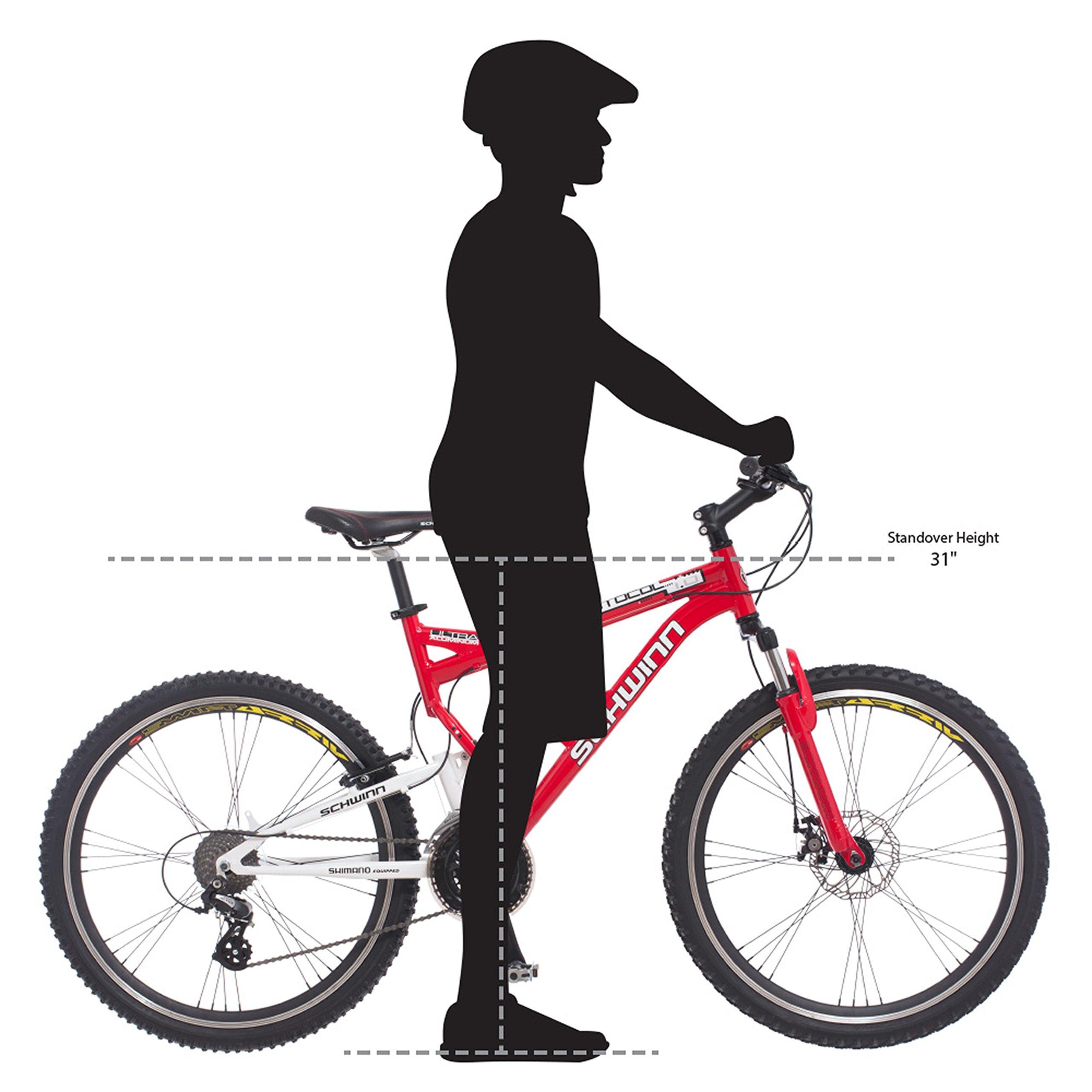 Schwinn Protocol 1.0 Men's Dual-Suspension Mountain Bike (26-Inch Wheels, Red) by Schwinn (Image #6)