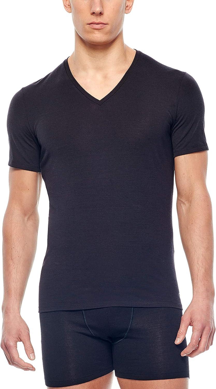 Icebreaker Merino Mens Anatomica Merino Wool Short Sleeve V Neck T-Shirt