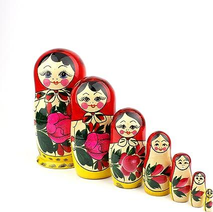 Hazelnut Nuts Matryoshka Russian Nesting Dolls Matrioska Babushka Babuska 5 Pcs