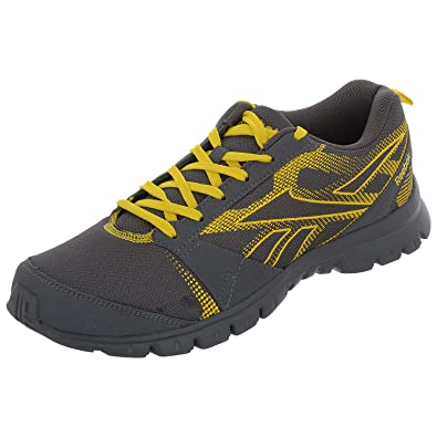 c30b32bb987 Reebok Men s Superlite Traction Grey And Yellow Mesh Running Shoes - 6 UK  Size  Buy Online at Low Prices in India - Amazon.in