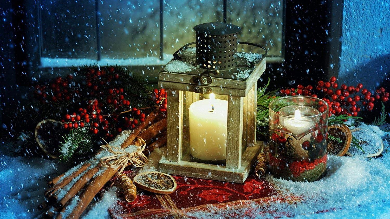 NOVELOVE Imagen de Arte de Pared Decoración de Velas de Nieve de Navidad Impresión de póster Lienzo Pintura Regalo Decoración para el hogar sin Marco 40 * 70 cm