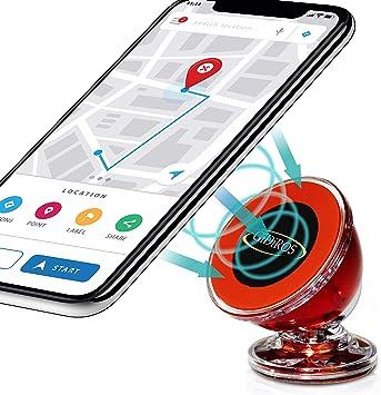 GiDiROS Soporte para Smartphone magnetico,Soporte móvil para Coche,Soporte para teléfono móvil, Universal magnético para iPhone y iPod,Accesorios Coche, Segunda generación, rotación de 360 Grados: Amazon.es: Electrónica