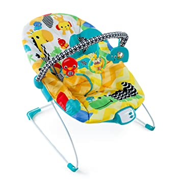 990000474f2a Amazon.com   Bright Starts Safari Smiles Bouncer   Baby
