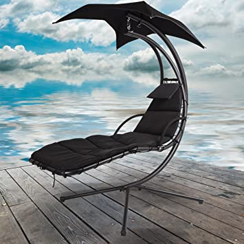 Chaise noir Dream Garden Hamac de jardin Auvent Swing Chaise ...