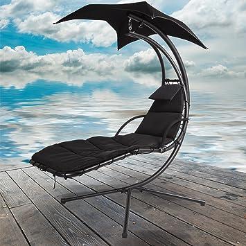 Chaise noir Dream Garden Hamac de jardin Auvent Swing Chaise longue ...