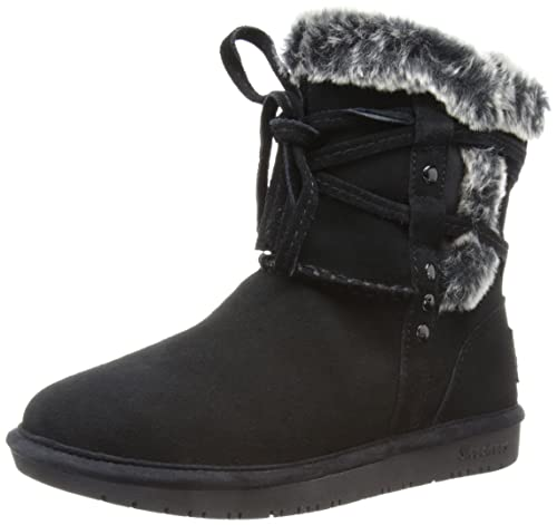 Skechers Shelbys, Botines Planos para Mujer, Negro-Schwarz (BLK), 35 EU: Amazon.es: Zapatos y complementos