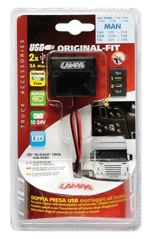 Lampa 97964/original-fit 12//24/V Dual USB