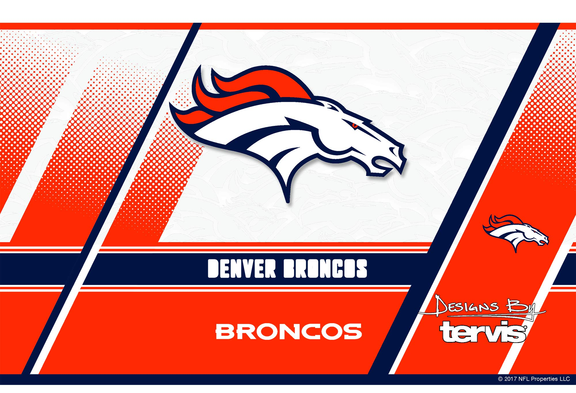 Tervis 1266718 NFL Denver Broncos Edge Stainless Steel Tumbler with Clear and Black Hammer Lid 20oz, Silver by Tervis (Image #2)