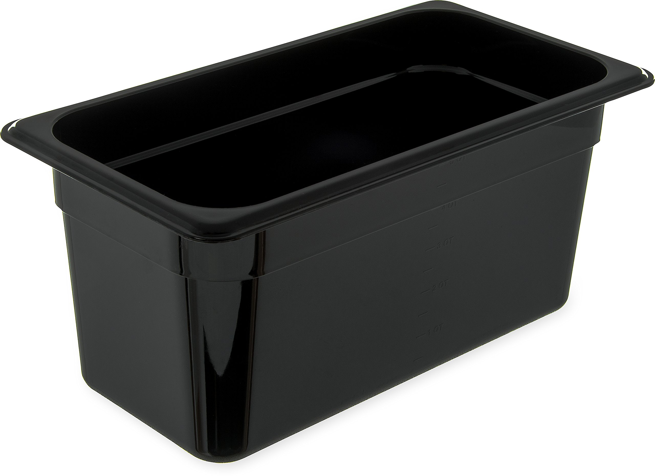 Carlisle 3066203 StorPlus Third Size Food Pan, Polycarbonate, 6'' Deep, Black (Pack of 6)