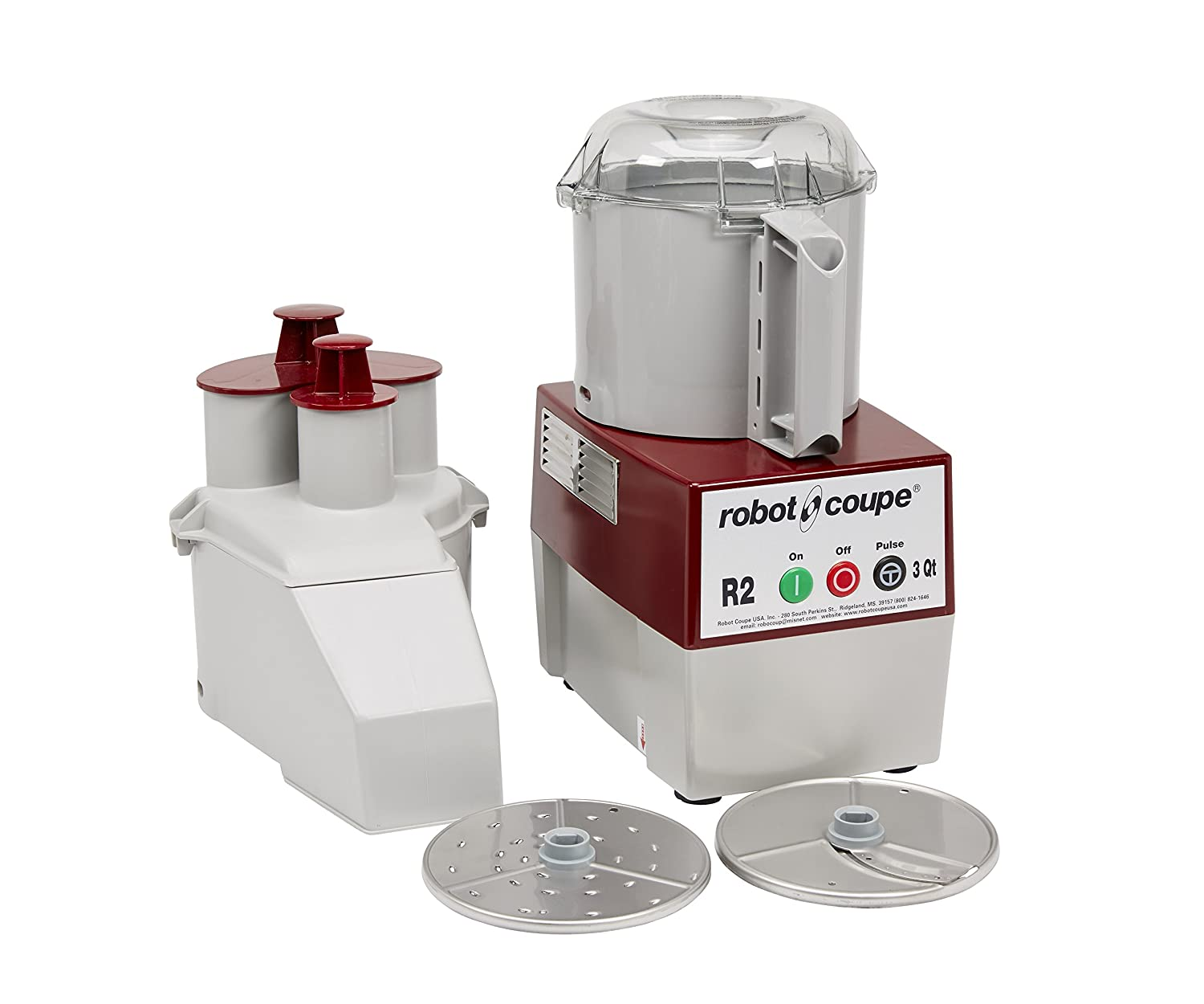 Robot Coupe - 4581 R2N Continuous Feed Combination Food Processor with 3-Quart Polycarbonate Bowl, 1-HP, 120-Volts